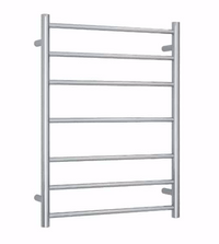 STRAIGHT ROUND  7 BAR HEATED TOWEL LADDER CHROME