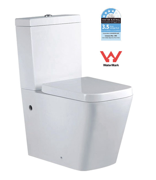SQUARE BTW TOILET SUITE (T2051A) (CLICK & COLLECT)
