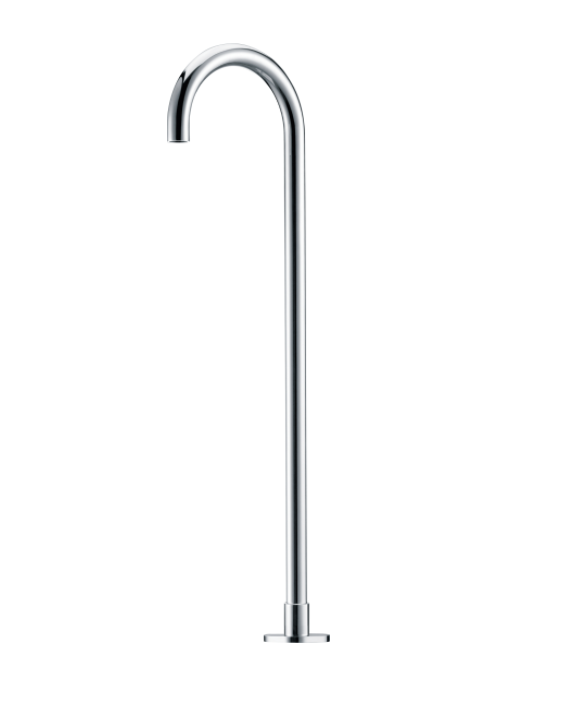 ROUND FLOOR STANDING BATH OUTLET 900MM CHROME