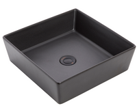 VENEIZIA SQUARE GRAPHITE ABOVE COUNTER BASIN BLACK 380 x 380MM DIAMETER