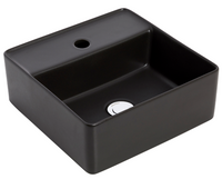 VENEIZIA SQUARE 1TH GRAPHITE ABOVE COUNTER BASIN BLACK 350 x 350MM DIAMETER
