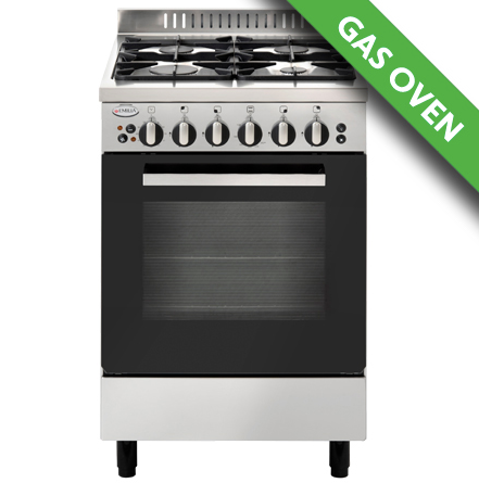 EMILIA 53cm Stainless Steel Freestanding Gas Cooker