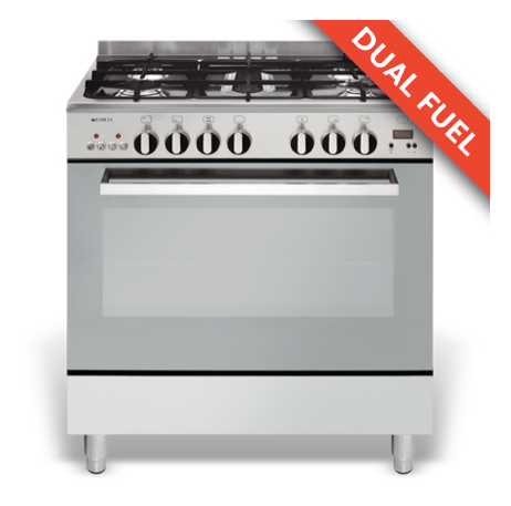 EMILIA 80cm Stainless Steel GAS/ELECTRIC STOVE GAS HOB MULTI FUNCTION ELECTRIC OVEN