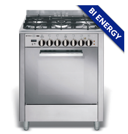EMILIA 70cm S/S Energy Select 5 burner Gas hob, BI ENERGY OVEN