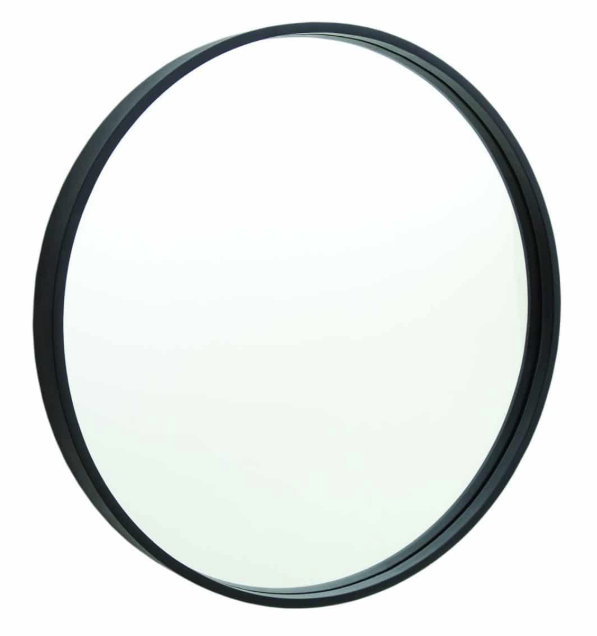 ROUND MATTE BLACK 600MM MIRROR