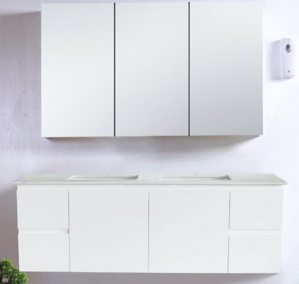 WALL HUNG 1500MM VANITY DOUBLE BOWL