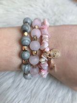 Women's Stack of Courage Beaded Bracelet Set