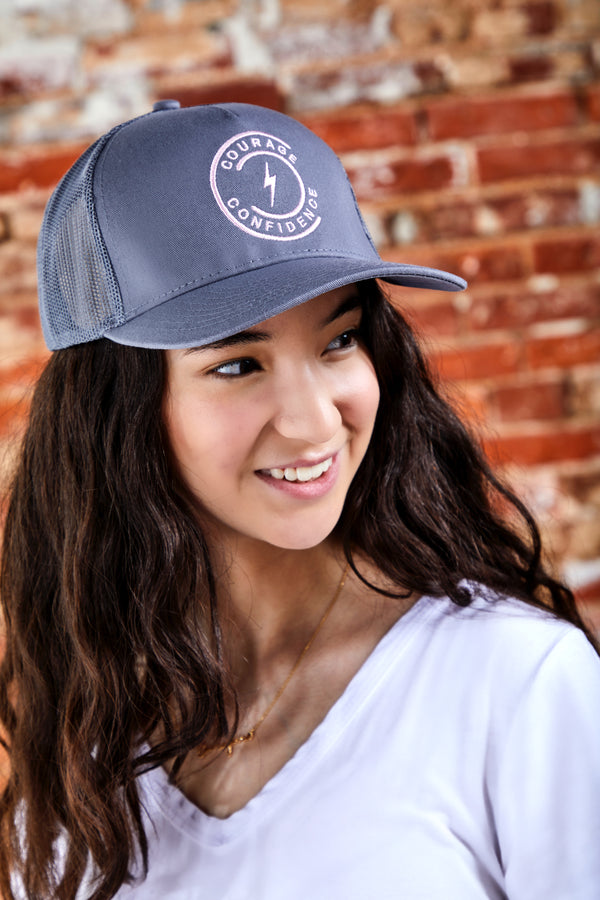 Womens Confidently Chic Trucker Hat