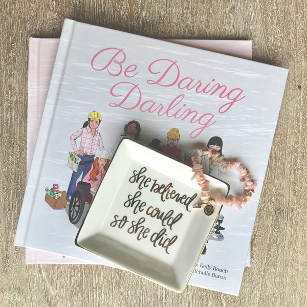 """Be Daring Darling"" Hard Cover Book"