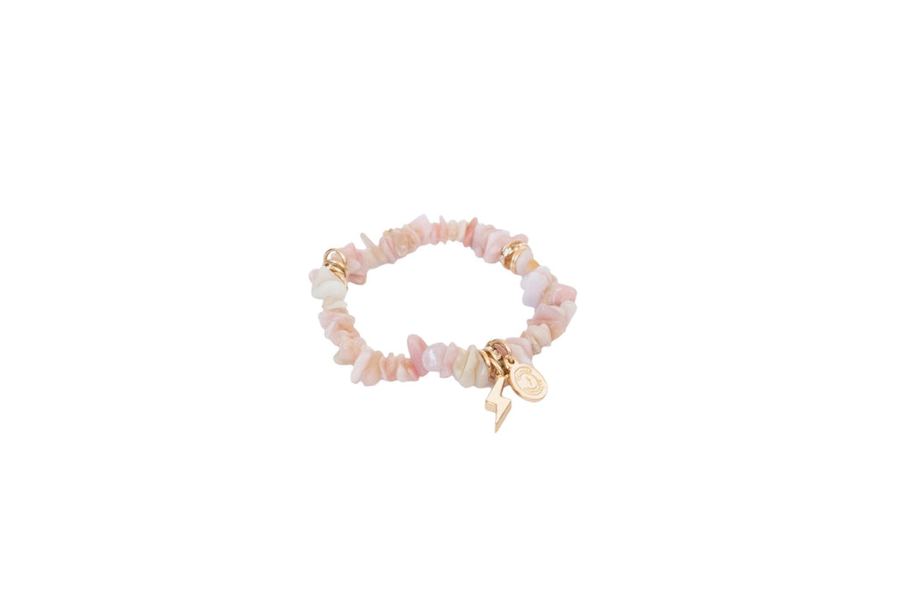Women's Pink Zebra Stone Circle of Courage Bracelet