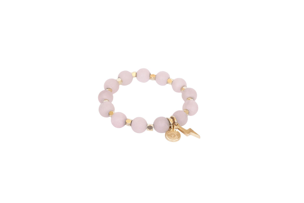 Women's Rose Quartz Circle of Courage Bracelet