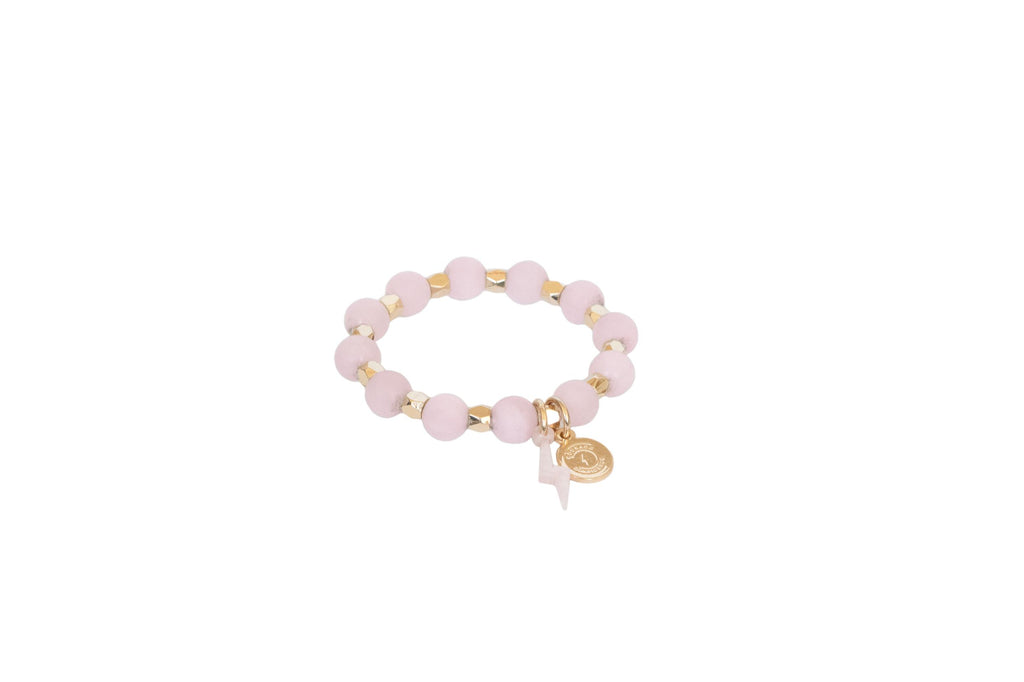 Girl's Rose Quartz Circle of Courage Bracelet