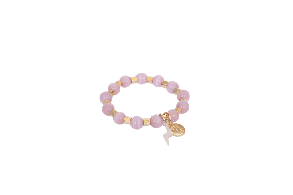 Girl's Pink Opal Circle of Courage Bracelet