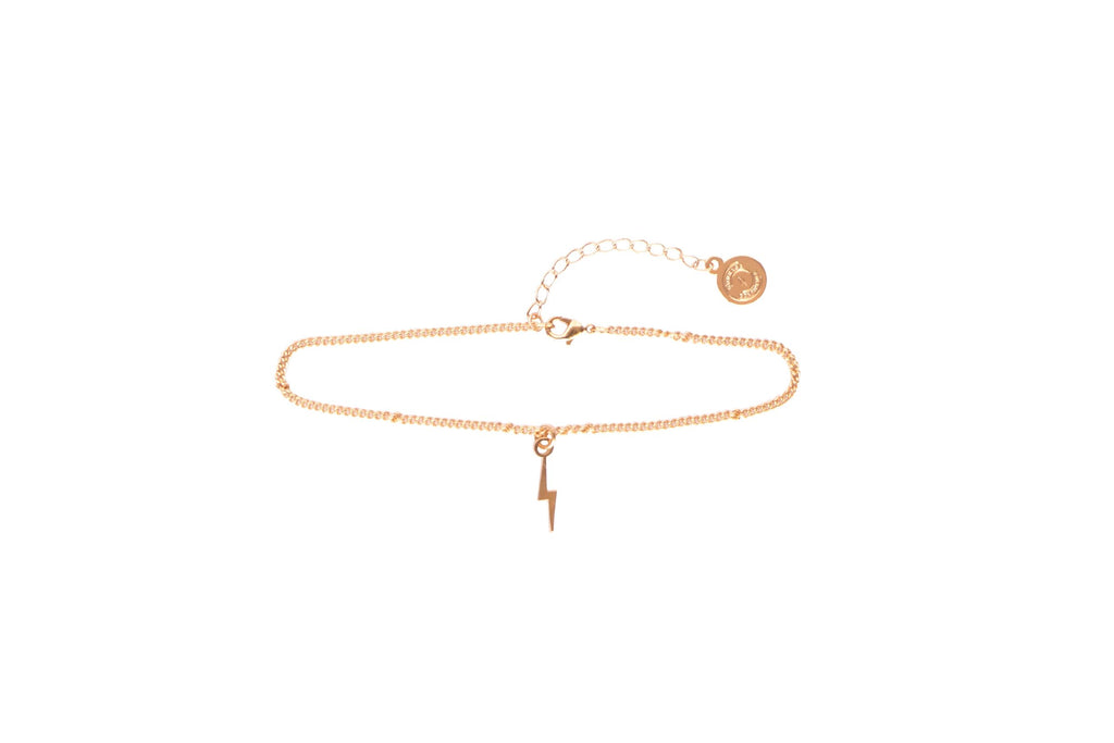 Women's Give Her Courage Bolt Anklet - Coming Soon
