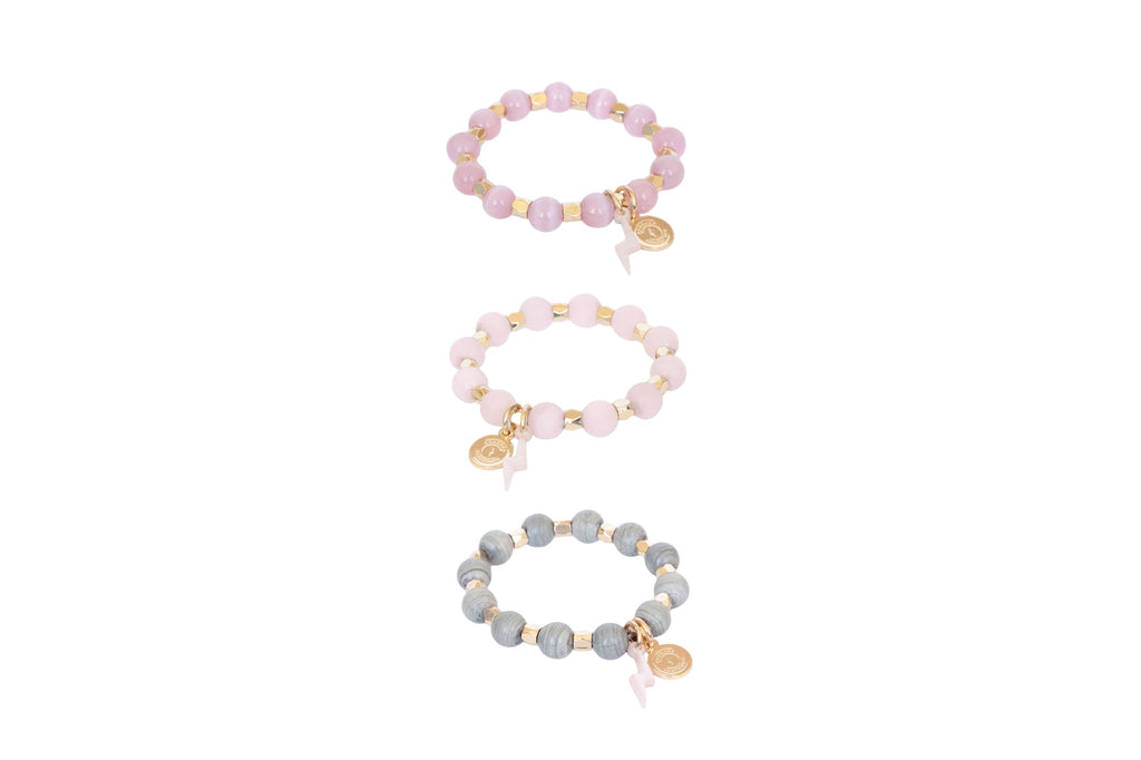 Girl's Stack of Courage Beaded Bracelet Set