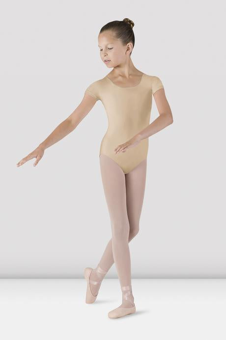 BLOCH - CL5602 Girls Cap Sleeve Leotard  Nude