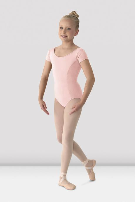 BLOCH - M515CD Mirella Girls Classic Short Sleeve Leotard Microfiber  Pink