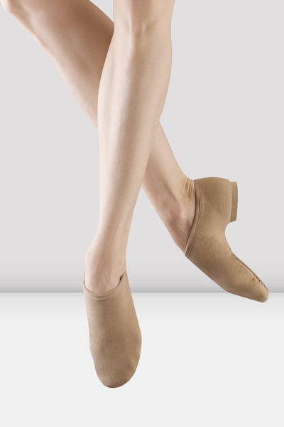 BLOCH - SO473L - Phantom Stretch Canvas Jazz Shoes - Tan/Carmel