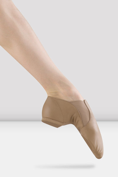 BLOCH - SO499G - Leather Elasta Jazz Booties