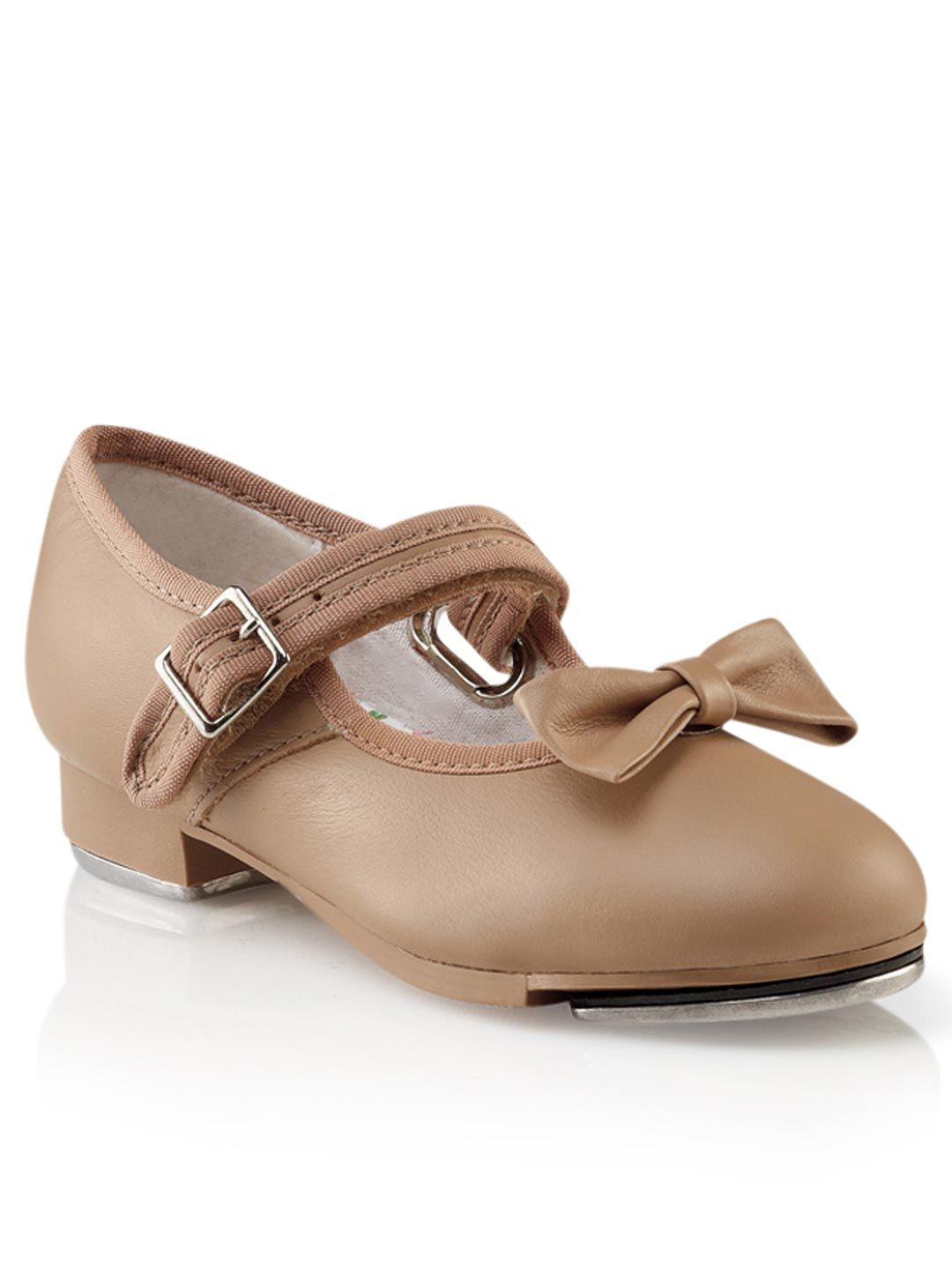 CAPEZIO -  3800 Children's Velcro Buckle Mary Jane Tap Shoe  TAN