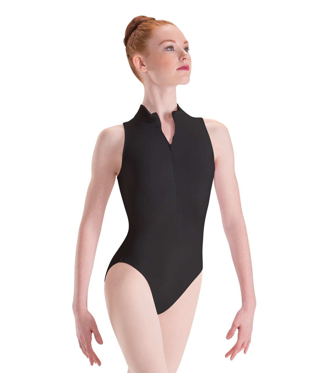 Motionwear - 2206/2776 - Zip-Front Mock-T High-Cut Leotard