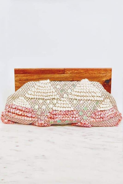 Hold Me Pink Beaded Clutch - Accessories Handbags