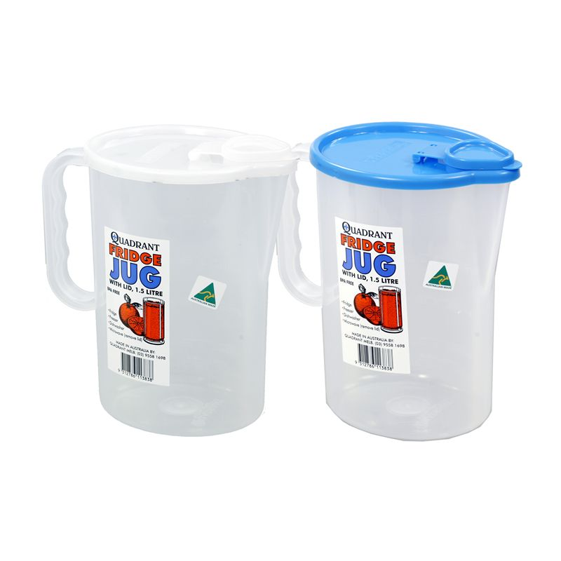 Fridge Jug With Lid / 18 x 11 x 19cm (1.5Lt) Made in Australia