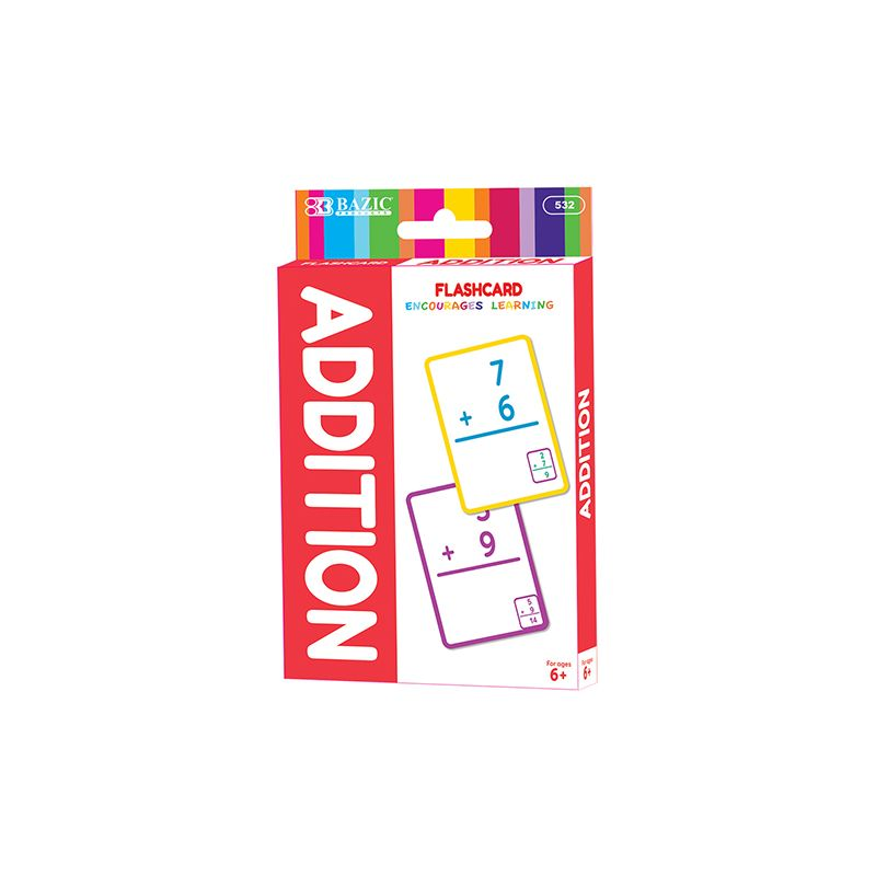 BAZIC Addition Flash Card Pack / Pack of 36