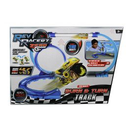 Rev Racerz ZERO G - Burn & Turn Track Pack / Includes 1 Motor Bike/2 Curve Track/1 Accessory/1 Large Loop & More (Age 5+)