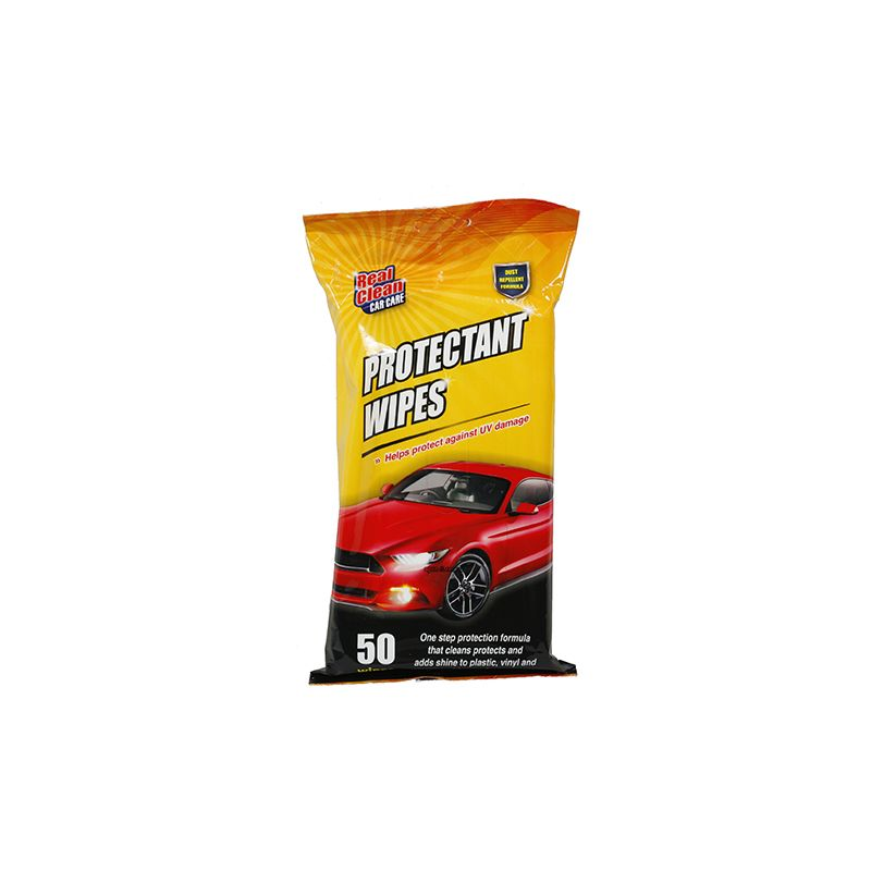 Car Care Protectant Wipes / Pack of 50 (Helps Protect Against UV Damage)