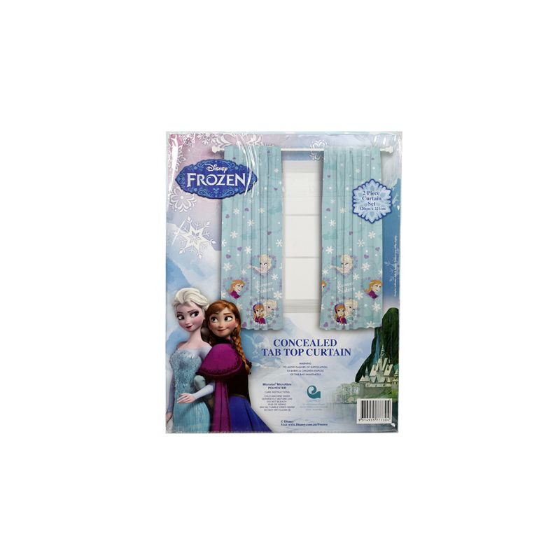 Frozen Concealed Tab Top Curtain / 2 Piece Set 120 x 221cm