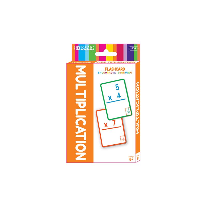 BAZIC Multiplication Flash Card Pack / Pack of 36