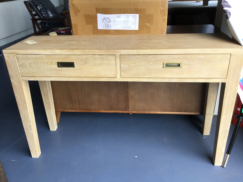 Barista Hall Table 2 Drawer/Solid Oak