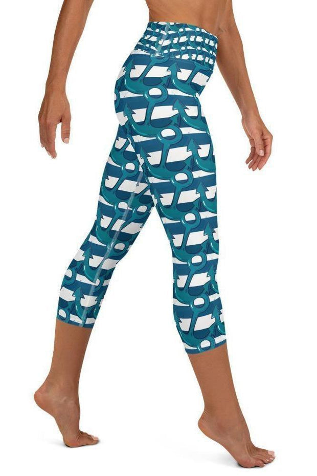 Anchors Capri-women's yoga capris-Eadness Life