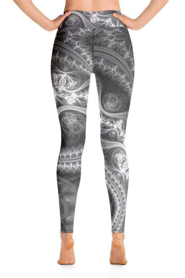 Black Magic Leggings-women's yoga leggings-Eadness Life