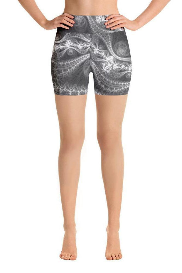 Black Magic Shorts-women's yoga shorts-Eadness Life