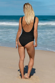 Black Marlin Oil Swimsuit-women's one-piece swimsuit-Eadness Life