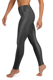 Black Rain Leggings-women's yoga leggings-Eadness Life