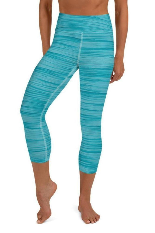 Blue Flamingo Oil Capri-women's yoga capris-Eadness Life