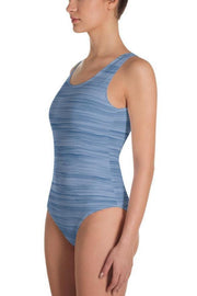 Blue Marlin Oil Swimsuit-women's one-piece swimsuit-Eadness Life