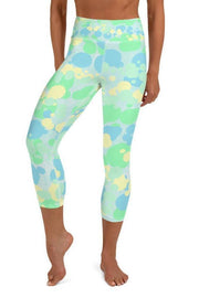 Drippy Sea Turtle Capri-women's yoga capris-Eadness Life