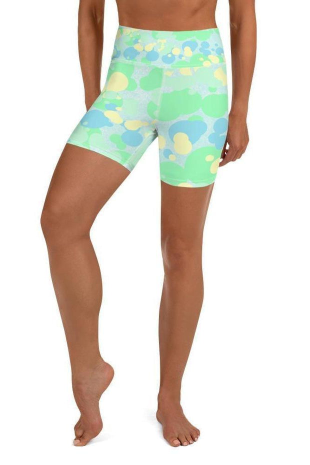 Drippy Sea Turtle Shorts-women's yoga shorts-Eadness Life