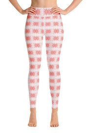 Flamingos in Love Again Oil Leggings-women's yoga leggings-Eadness Life