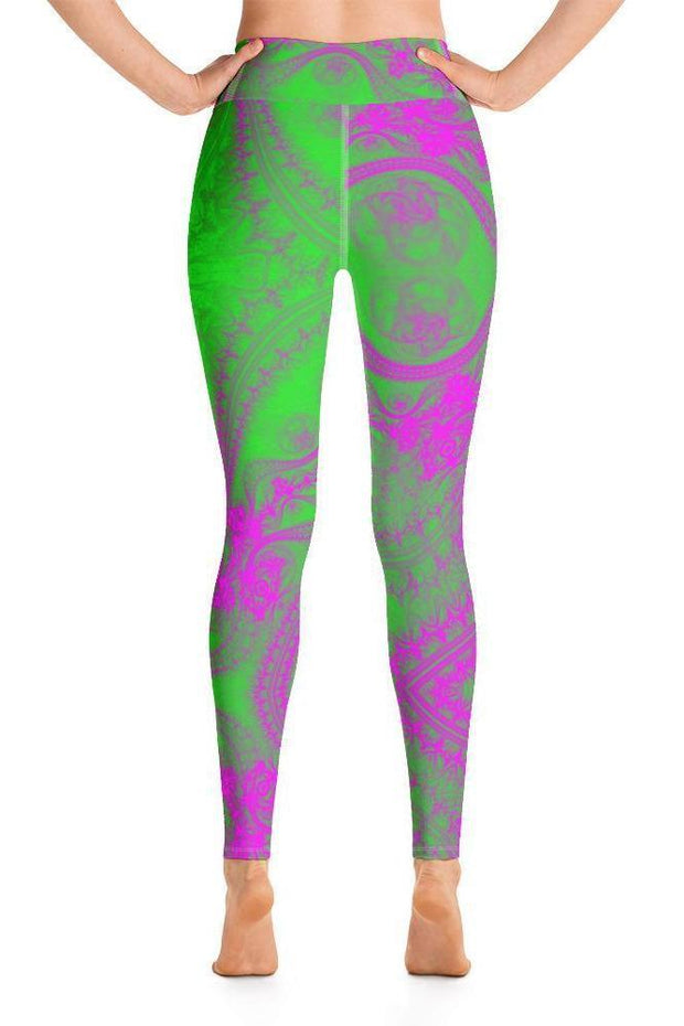 Green Magic Leggings-women's yoga leggings-Eadness Life