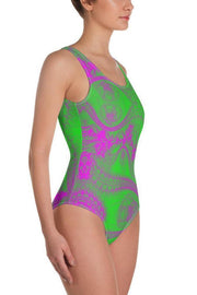 Green Magic One-Piece Swimsuit-Eadness Life