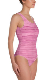 Happy Place Pink Oil Swimsuit-women's one-piece swimsuit-Eadness Life