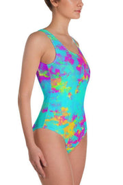 LAF Splatter One-Piece Swimsuit-women's one-piece swimsuit-Eadness Life