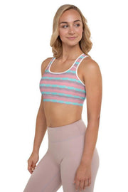 Maldives Watercolors Sports Bra-women's sport bra-Eadness Life