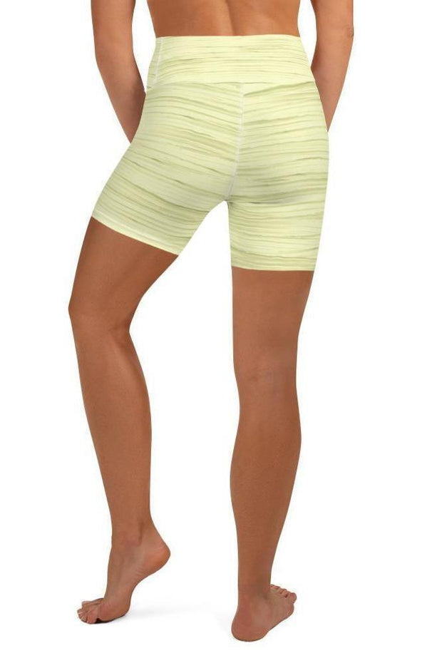 Morning Sunshine Oil Shorts-women's yoga shorts-Eadness Life