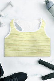 Morning Sunshine Oil Sports Bra-women's sport bra-Eadness Life